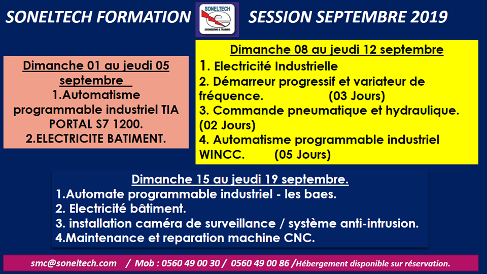 SONELTECH FORMATION / SEPTEMBRE 2019