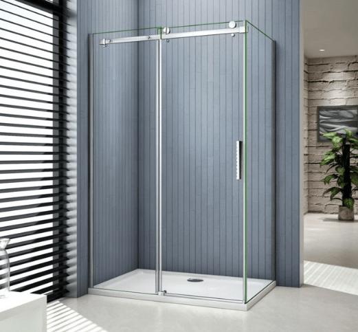 Système coulissant rectangulaire pour cabine de douche